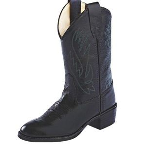 Masterson Old West Kid's Round Toe Cowboy Boots